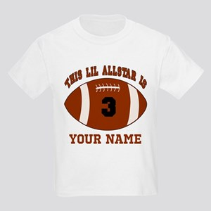 3rd Birthday Football Kids Light T-Shirt