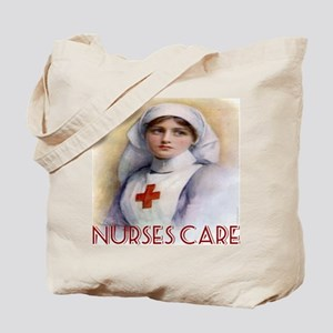 Red Cross Poster Nurses Care Tote Bag