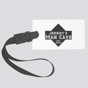 Personalized Man Cave Large Luggage Tag