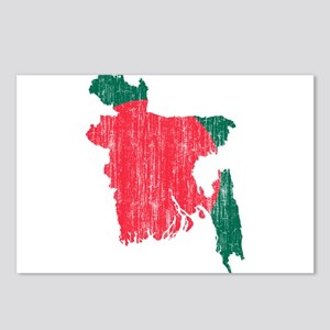 Bangladesh Flag And Map Postcards (Package of 8)