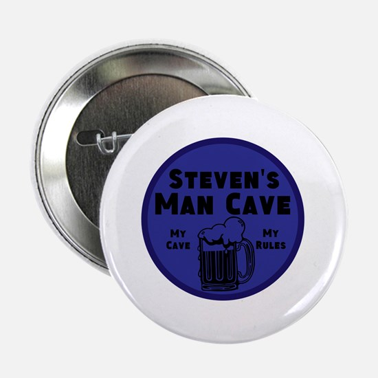 """Personalized Man Cave 2.25"""" Button (100 pack)"""