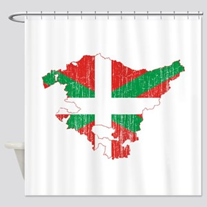 Basque Community Flag And Map Shower Curtain