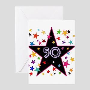 50th! Festive, Birthday, Anniversary! Greeting Car