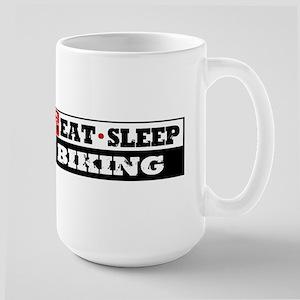 Eat Sleep Biking T-Shirts and Products Large Mug