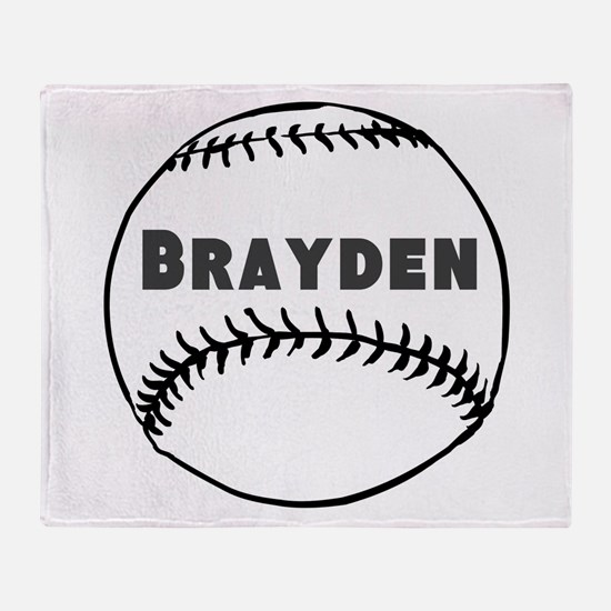 Personalized Baseball Throw Blanket