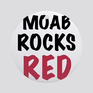 Moab rocks red Ornament (Round)