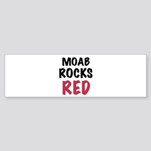 Moab rocks red Sticker (Bumper)