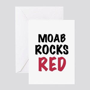 Moab rocks red Greeting Card