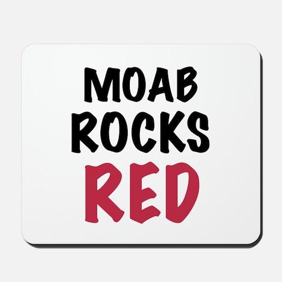 Moab rocks red Mousepad