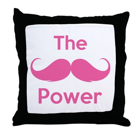 The moustache power Throw Pillow