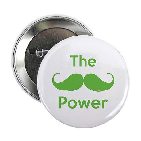 "The moustache power 2.25"" Button (100 pack)"