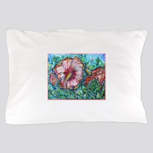 Rose of Sharon! Hibiscus, flower art! Pillow Case