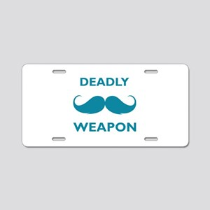 Deadly weapon Aluminum License Plate