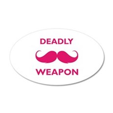 Deadly weapon 22x14 Oval Wall Peel