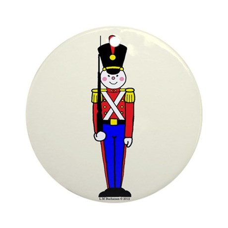 Toy Soldier in Red and Blue.Ornament (Round)