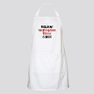relax! ice cream truck here Light Apron