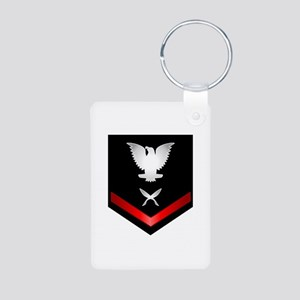 Navy PO3 Yeoman Aluminum Photo Keychain