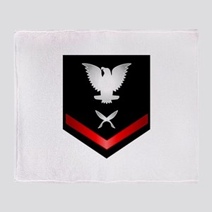 Navy PO3 Yeoman Throw Blanket