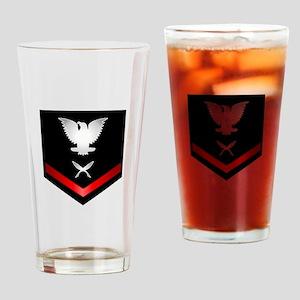 Navy PO3 Yeoman Drinking Glass