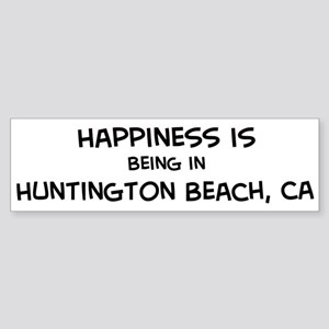 Huntington Beach - Happiness Bumper Sticker