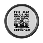 I'm an oil using superman Large Wall Clock