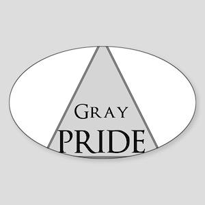 Gray Pride Sticker (Oval)