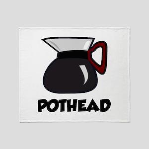 Pothead Throw Blanket
