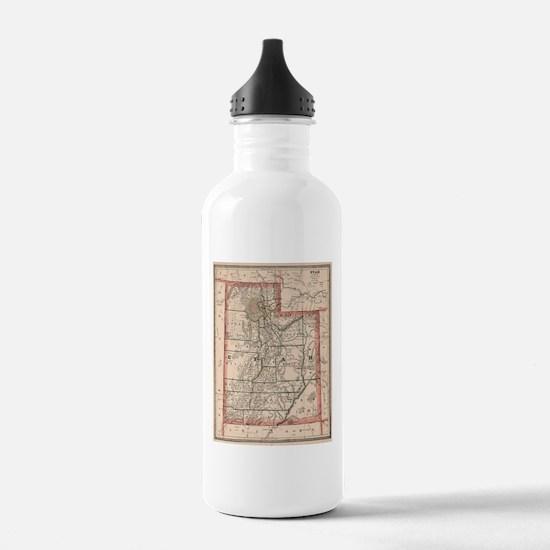 Vintage Map of Utah (1 Water Bottle