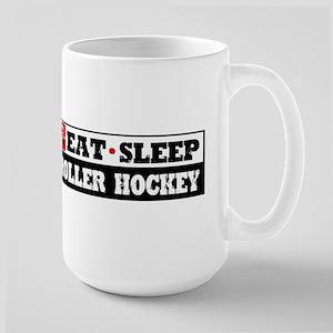 Eat Sleep Roller Hockey Large Mug