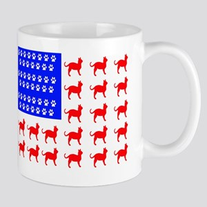 Cat and Paw Flag Mugs