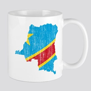 Democratic Republic Of The Congo Flag And Map Mug