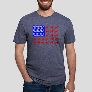Cat and Paw Flag Mens Tri-blend T-Shirt