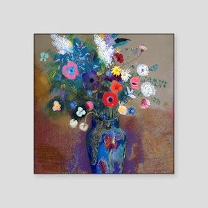 "Redon Bouquet Square Sticker 3"" x 3"""