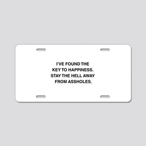 Key To Hapiness Aluminum License Plate