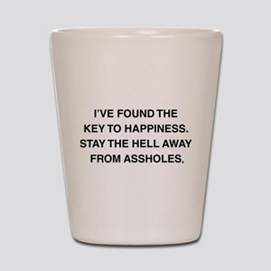 Key To Hapiness Shot Glass