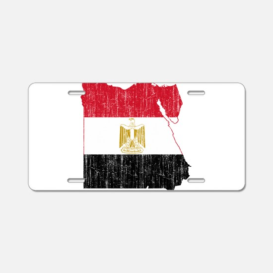 Egypt Flag And Map Aluminum License Plate