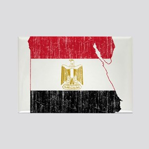 Egypt Flag And Map Rectangle Magnet