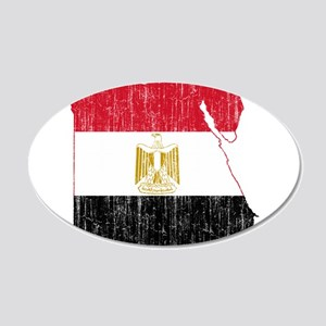 Egypt Flag And Map 20x12 Oval Wall Decal