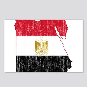 Egypt Flag And Map Postcards (Package of 8)