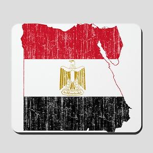 Egypt Flag And Map Mousepad