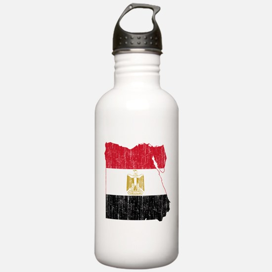 Egypt Flag And Map Water Bottle