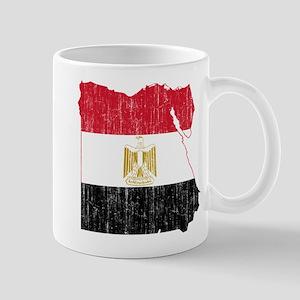 Egypt Flag And Map Mug