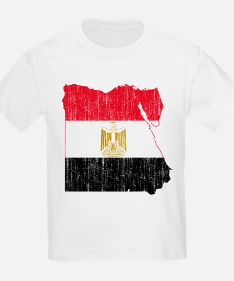 Egypt Flag And Map T-Shirt