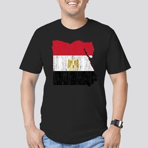 Egypt Flag And Map Men's Fitted T-Shirt (dark)
