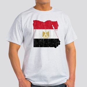 Egypt Flag And Map Light T-Shirt