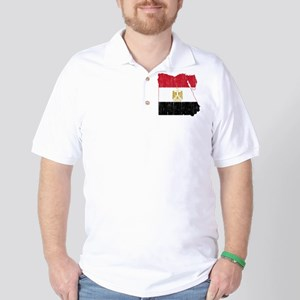 Egypt Flag And Map Golf Shirt