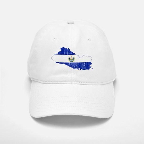 El Salvador Flag And Map Baseball Baseball Cap