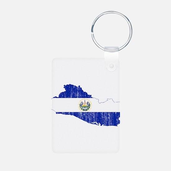 El Salvador Flag And Map Keychains