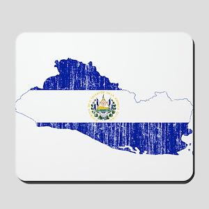 El Salvador Flag And Map Mousepad