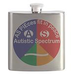 Autism symbol Flask